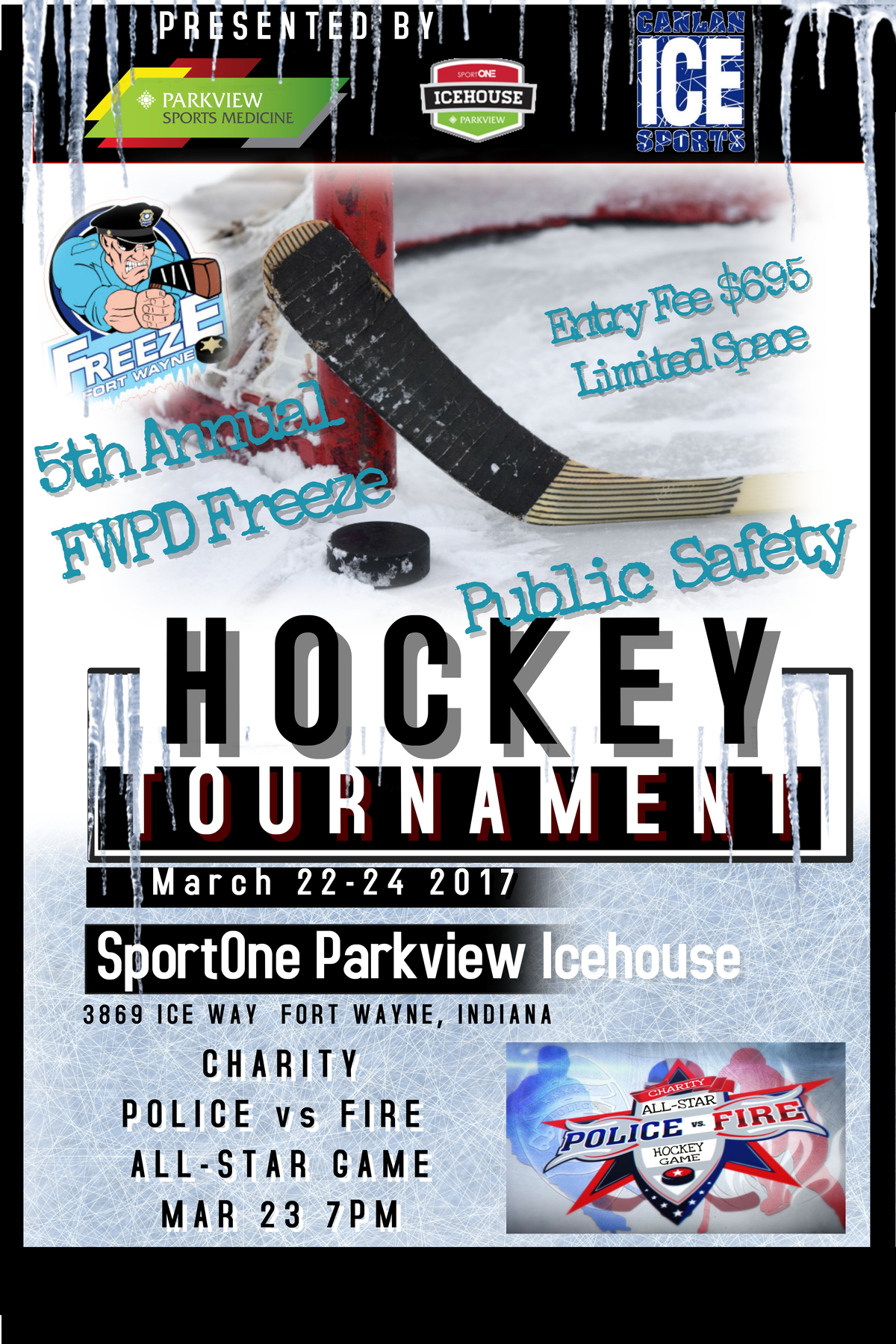 5th Annual Parkview Sports Medicine Public Safety Hockey Tournament